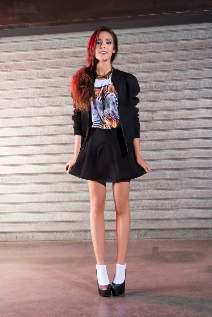 Falda skater negra de neopreno