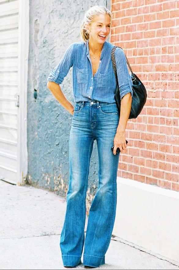 Jeans acampanados flared jeans 2015